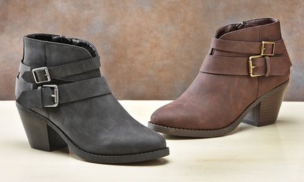 Olive Street Dorris Ankle Booties | Groupon Exclusive