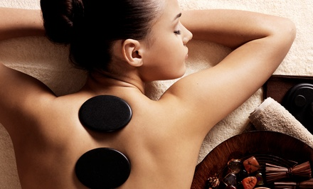 One-Hour Hot-Stone or Swedish/Hot-Stone Massage at Healing Elements Spa & Bodywork (Up to 53% Off)