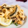 Menu frittura di pesce e Prosecco
