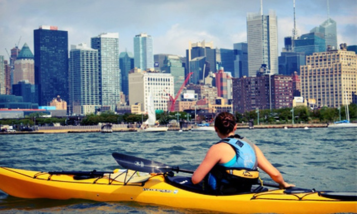 Manhattan Kayak - Chelsea: Kayak and Standup-Paddleboard Package from Manhattan Kayak (Up to 51% Off). Four Options Available.