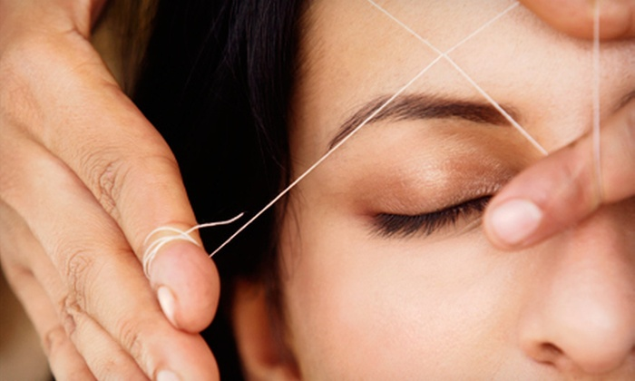 Eyes by India - Fort Wayne: Threading for Upper Lip, Eyebrows, and Chin or for the Full Face at Eyes by India (Half Off)