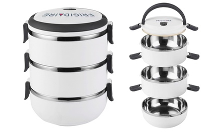 frigidaire 3 tiered bento lunch carrier groupon. Black Bedroom Furniture Sets. Home Design Ideas