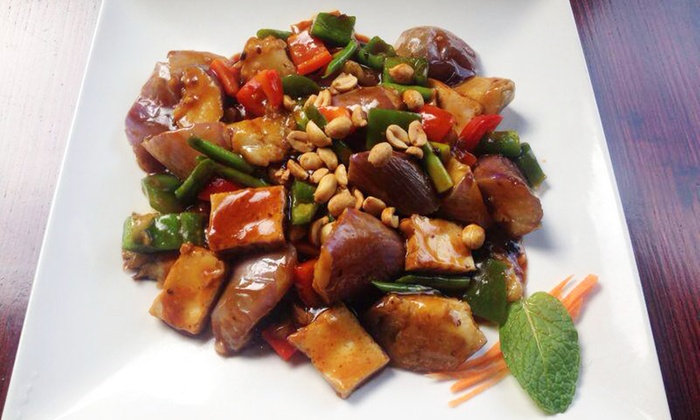 Veggie Fun - Downtown Providence: Asian Vegan Cuisine at Veggie Fun (Up to 40% Off). Two Options Available.
