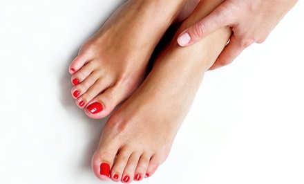 Spa Pedicure with Spa or Shellac Manicure from Britney Rice at Gossip in the City (Up to 55% Off)