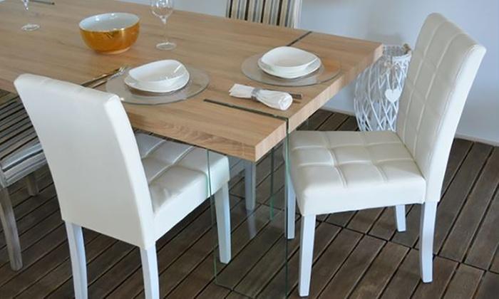Set di sedie imbottite in ecopelle groupon for Groupon shopping arredamento