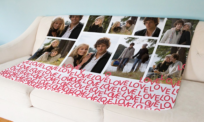 York Photo: One or Two Personalized Lightweight Fleece Blankets from York Photo (Up to 61% Off)