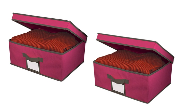 ... Fabric Storage Boxes With Lids: 2 Pack Fabric Storage Boxes With Lids  ...
