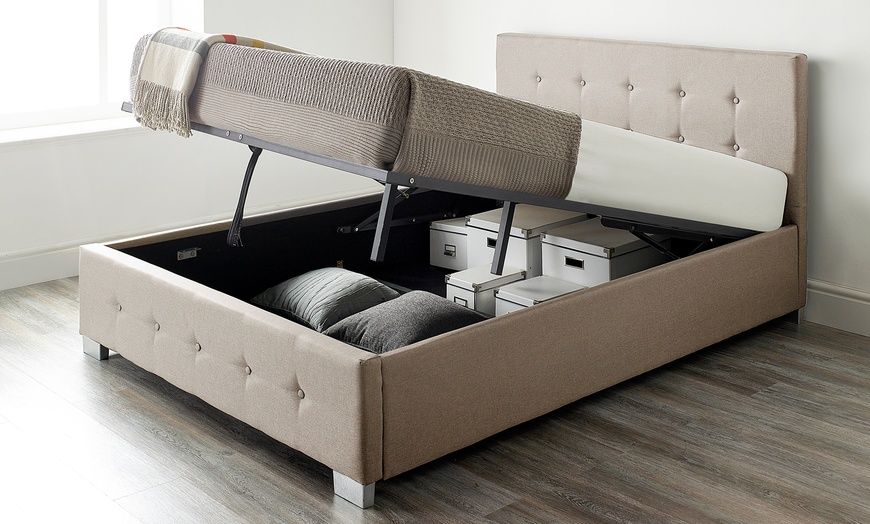 Fabric Ottoman Storage Bed with Optional Mattresses