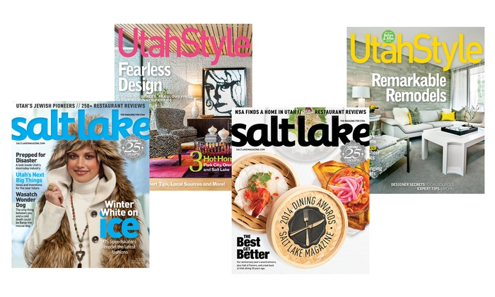 "Salt Lake City Magazine: One-Year Subscription to ""Utah Style and Design,"" ""Salt Lake"" Magazine, or Both (Up to 61% Off)"