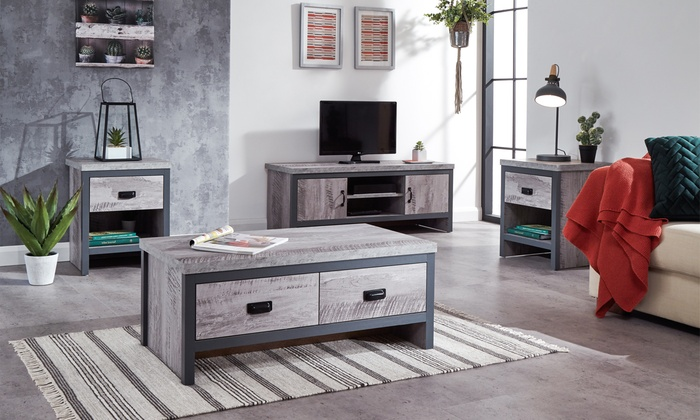 Boston Industrial-Style Living Room Furniture Collection from £35.99