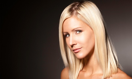 Haircut, Deep Conditioning, and Blow-Dry Style with Optional Color or Highlights at V. Salon (Up to56% Off)