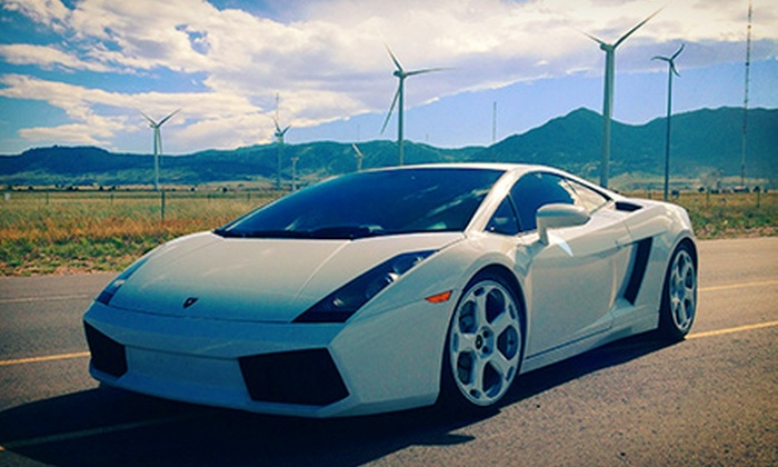 Mile High Drives - Arvada Plaza Area: Foothills Drive in a Lamborghini Gallardo or Ferrari F430 Spider from Mile High Drives (Up to 60% Off)
