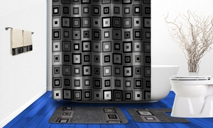 Soft And Stylish Boutique Deluxe 17-piece Bath Mat And Shower Set