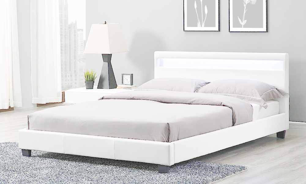 Canis LED Bed Frame Groupon Goods