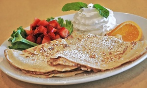 Whispers Cafe & Creperie: Breakfast, Lunch, or Dinner at Whispers Cafe & Creperie (Up to 60% Off). Two Options Available.