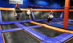 Sky Zone : Two 60- or 90-Minute Jump Passes at Sky Zone (Up to 46% Off)