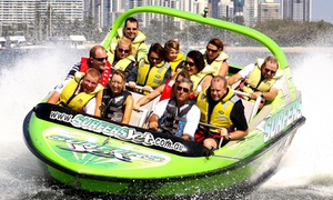Surfers Jet: One-Hour Jet Boating for One ($39) or Two People ($78) at Surfers Jet, Surfers Paradise (Up to $140 Value)