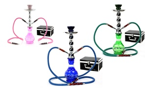 Brooklyn Double-hose Hookah With Carrying Case From Zebra Smoke