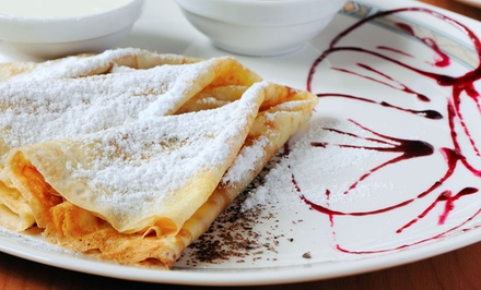 Two or Four Sweet Crepes or Waffles and Coffee at Cupcake Lady Cafe (Up to 51% Off)
