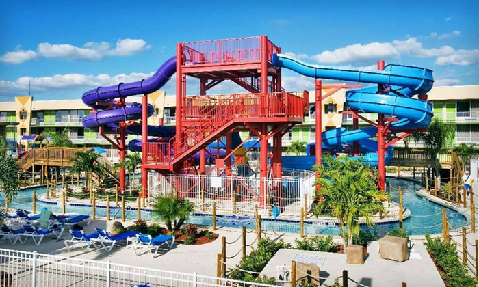 null - Orlando: Stay for Up to Four with Two Water-Park Vouchers at Flamingo Waterpark Resort in Kissimmee, FL