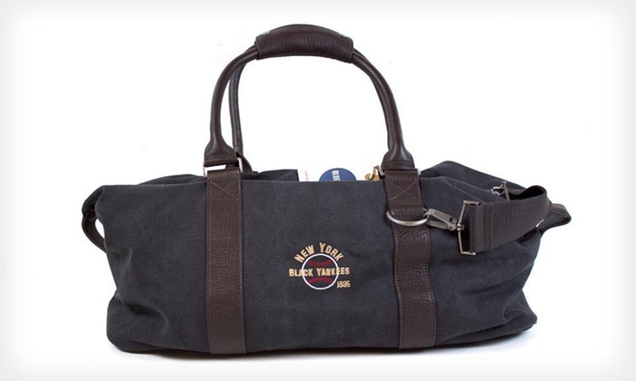 NY Black Yankees Duffel Bag: $69 for a Blue Marlin New York Black Yankees Vintage Sports Duffel Bag ($150 List Price). Free Shipping.