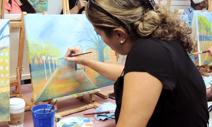 Victorios Art Studio - Victoria Park: $22 for Three-Hour BYOB Painting Party at Victorios Art Studio ($45 Value)
