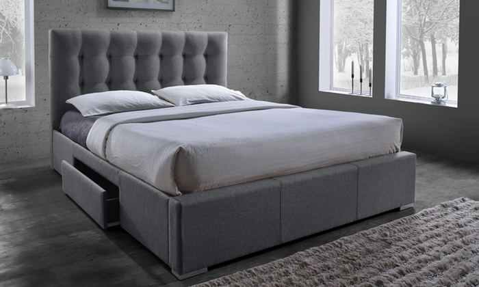 Marion Fabric Storage Bed Groupon Goods