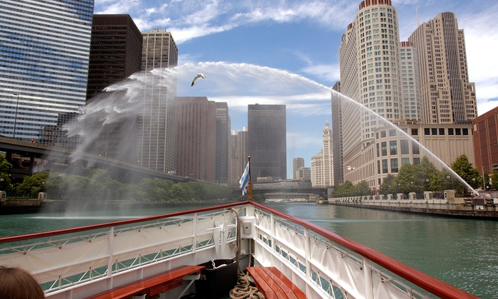 Chicago Line Cruises - Chicago: $62 for a 90-Minute Architectural Boat Tour for Two from Chicago Line Cruises ($84 Value)