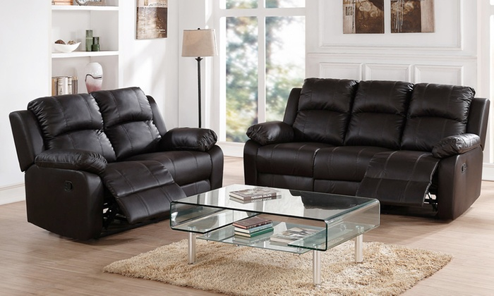 Surprising Recliner 3 2 Seater Sofa Set Groupon Goods Gmtry Best Dining Table And Chair Ideas Images Gmtryco