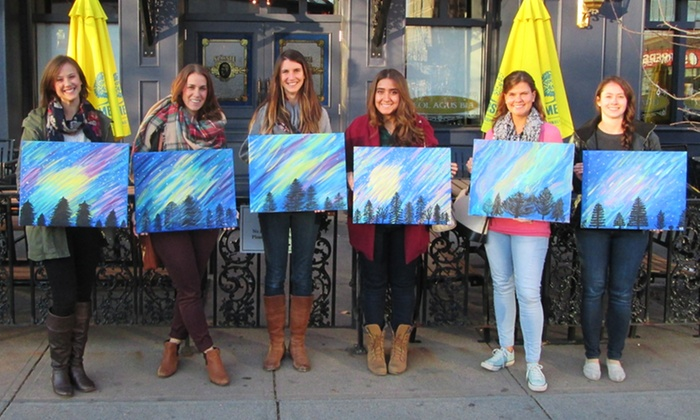 Paint Parti - Multiple Locations: Painting Party for 2, 4, 6, or Up to 15 from Paint Parti (Up to 48% Off)