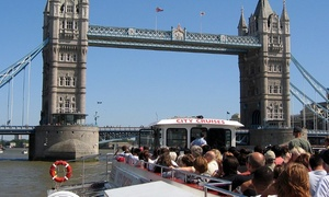 ThamesJet: City Cruises: Thames River Red Rover Three-Day Pass for a Child or Adult, Choice of Locations (Up to 78% Off)