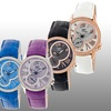 Sophie and Freda Toronto Women's Mother-of-Pearl Leather Strap Watch