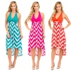 Chevron-Print Halter Dress