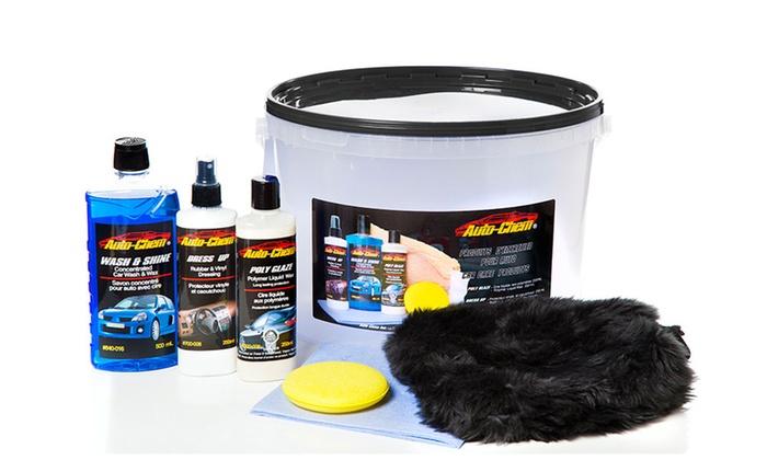 Car care detailing kit groupon goods for Professional car interior detailing kit