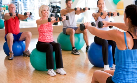 One- or Three-Month Membership with Boot-Camp Classes, T-shirt, and Water Bottle at Royal Fitness (Up to 82% Off)