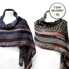 K&J Stripe and Check Print Fashion Scarves