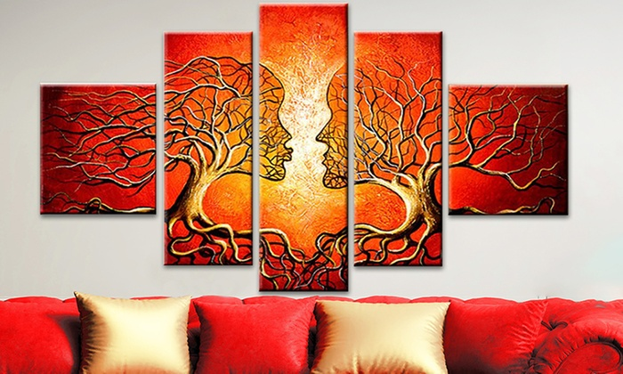 Multi,Panel Abstract Paintings