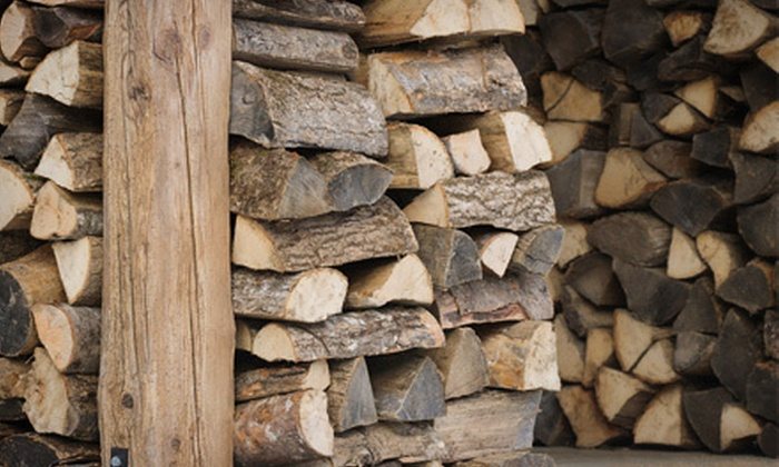 Q's Reliable Lawn Service LLC - Fairfield County: Cords of Stacked Firewood from Q's Reliable Lawn Service LLC (Up to 62% Off). Two Options Available.