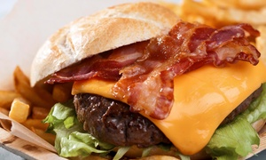 The Library Bar and Grill: American Food and Drinks or Slider Meal for Two at The Library Bar and Grill (Up to 48% Off)