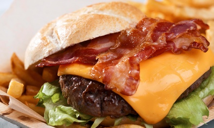 American Food and Drinks or Slider Meal for Two at The Library Bar and Grill (Up to 63% Off)