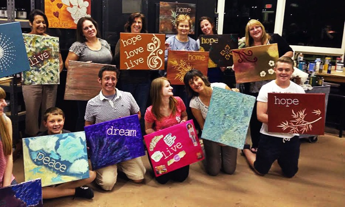 The Painted Party - Addison: BYOB Painting Class for Up to Two or Four at The Painted Party (Up to 53% Off)