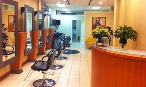 Studio Hair Trends: Louis: Haircut and Style with Optional Partial or Full Highlights at Studio Hair Trends: Louis (Up to 54% Off)