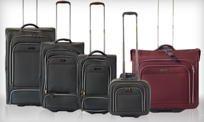 9072e0ce23ba Kenneth Cole Reaction Wheeled Garment Bag or Four-Piece Luggage Set (Up to  79% Off). Shipping Included.