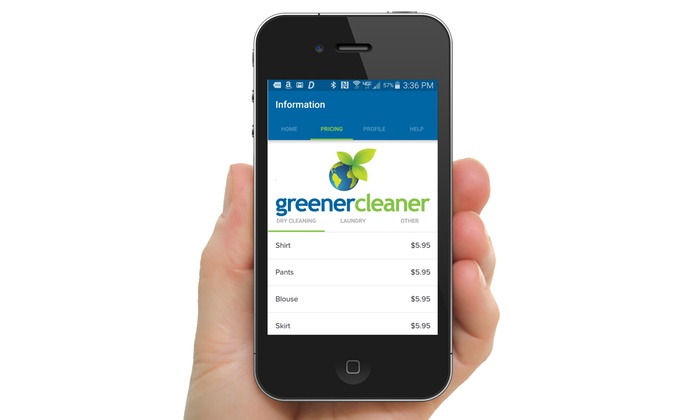 Greener Cleaner: $5 for $20 Toward Eco-Friendly Dry Cleaning with Greener Cleaner Mobile App