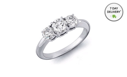 2.20 ct.tw. Certified 3-Stone Diamond Ring. Free Returns.