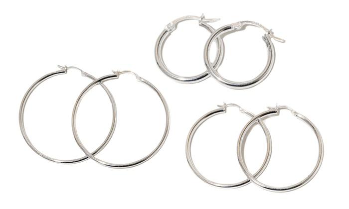 Sterling Silver Hoop Earrings: Sterling Silver Hoop Earrings. Multiple Sizes Available. Free Returns.