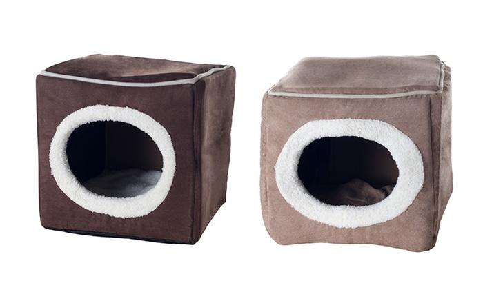 cozy cave enclosed cube pet bed cozy cave enclosed cube pet bed - Cozy Cave Dog Bed