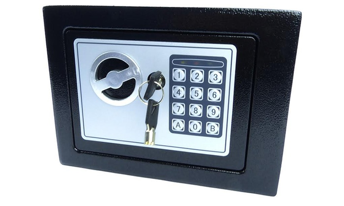 Home Safebox With Keypad and Key Lock ...  sc 1 st  Groupon & Home Safebox With Keypad and Key Lock | Groupon Goods