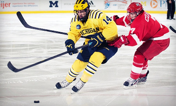 CCHA Championship Tournament - Joe Louis Arena: CCHA Championship Semifinal or Final Round Hockey Game at Joe Louis Arena on March 23 or 24 (Up to 52% Off)