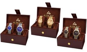 August Steiner His & Hers Bracelet Watch Set (2-Piece)